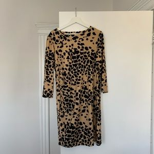 Jude Connally Animal Print Office Dress